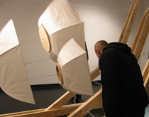 Ken Gregory wind coil sound flow, 2010 (installation view; photo by M. Placentile)