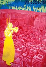 Juan Carlos Noria (a.k.a. Dixon), Landlords, 2004. Mixed media on canvas. Courtesy of the artist.