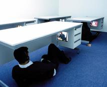 Saki Satom, Desk Project, 2005. Video installation. Photo by Michael Franke. Courtesy of the artist.