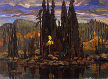 Arthur Lismer, Isles of Spruce, 1922. Oil on canvas.